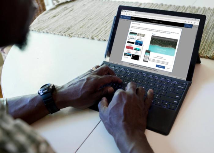 Surface Pro ejecutando Microsoft Word