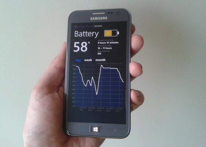 Samsung ATIV S Autonomía