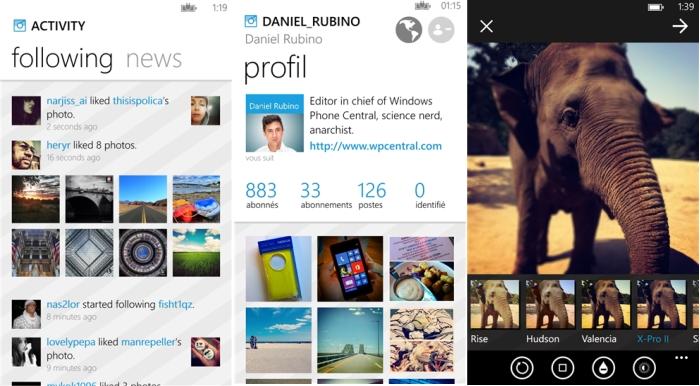 6tag windows phone instagram interfaz
