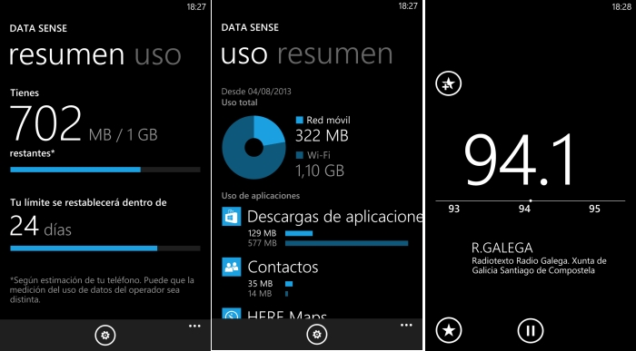data sense radio windows phone gdr2