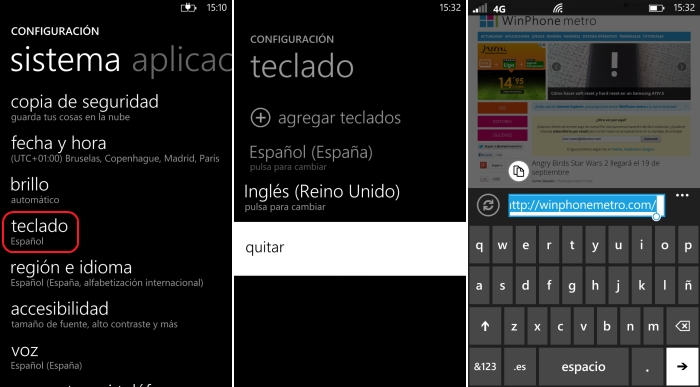quitar idioma teclado windows phone 8