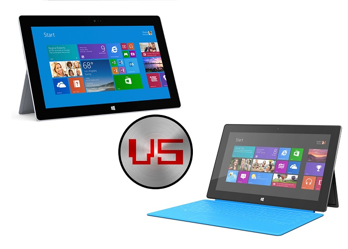 Comparativa Surface RT vs Surface 2