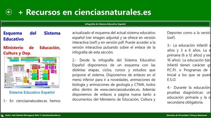 Captura de Ciencias Naturales en español