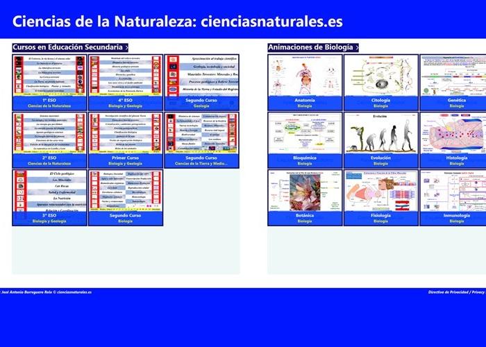 Ciencias Naturales en español, aplicación oficial I