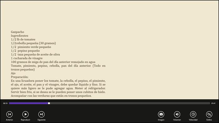 Receta de Gazpacho I