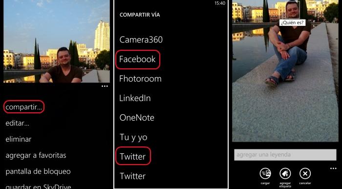 compartir imagenes windows phone