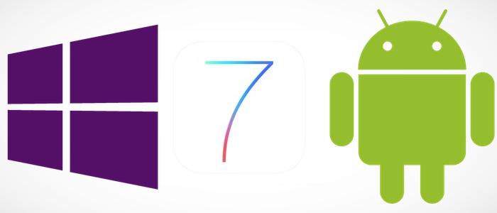 logos de Nokia iOS y Android juntos