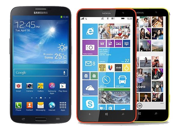 Nokia Lumia 1320 vs Samsung Galaxy Mega 6.3