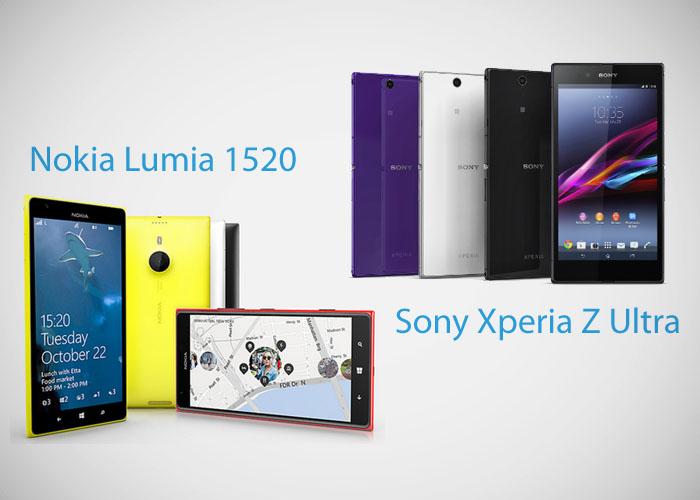 Nokia Lumia 1520 vs Sony Xperia Z Ultra