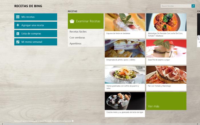 Recetas de Bing