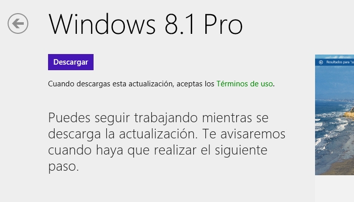 aplicacion actualiza windows 8 a windows 8.1 store