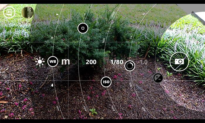 Imagen del menúde disparo Nokia Pro Cam