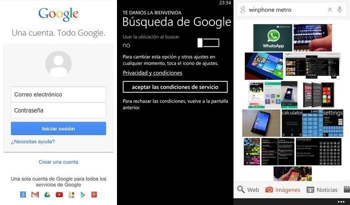 Capturas Google buscador