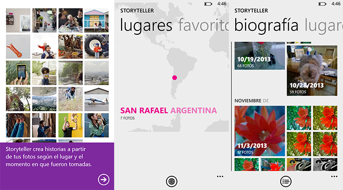 Capturas Nokia Storyteller