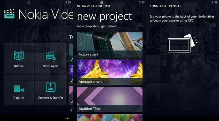 Capturas Nokia Video Director