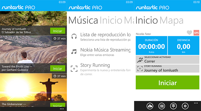 Capturas Runtastic