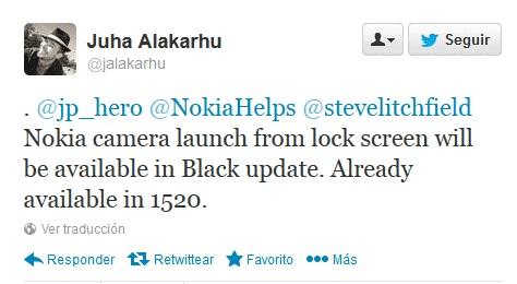 Comunicado Nokia sobre  Nokia Lumia Black