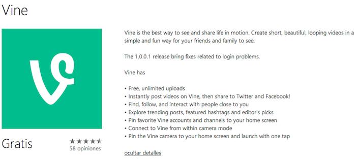 Vine Update 1.0.0.1
